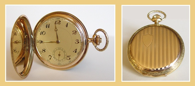 waarde oude gouden horloge met ketting