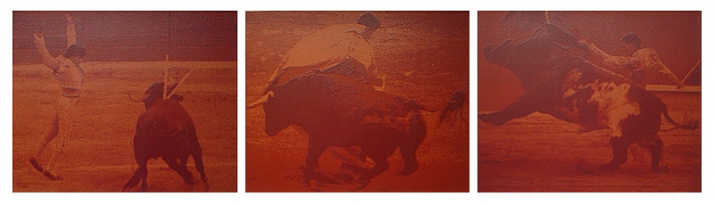 RARE SET OF SILKSCREEN PRINTS - BULLFIGHT - PAUL BLANCA.