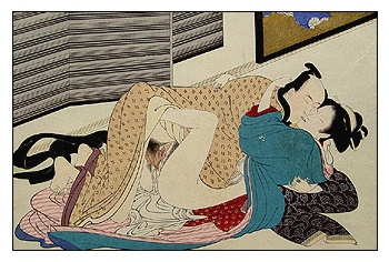 Original!! Antique Shunga Loving Embrace -Toshihide -