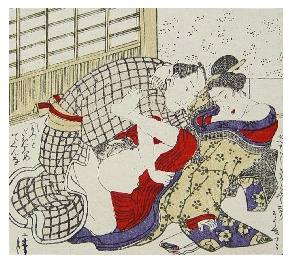 Three Original Shunga's Woodblock Comic Meiji.