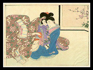 Beautiful Shunga - Eisen Tomioka - Meiji Period - Young Couple.