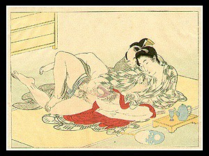 Beautiful Shunga - Eisen Tomioka - Meiji Period - Couple.