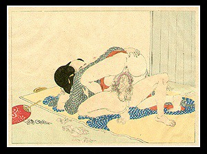 Beautiful Shunga - Eisen Tomioka - Meiji Period - Insatiable Affair.