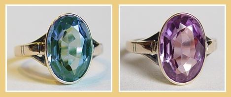 stoere zilveren heren ringen met blauwe steen